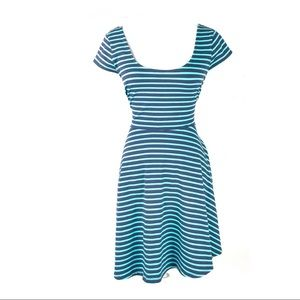 LC Lauren Conrad dress fit and flare striped swing